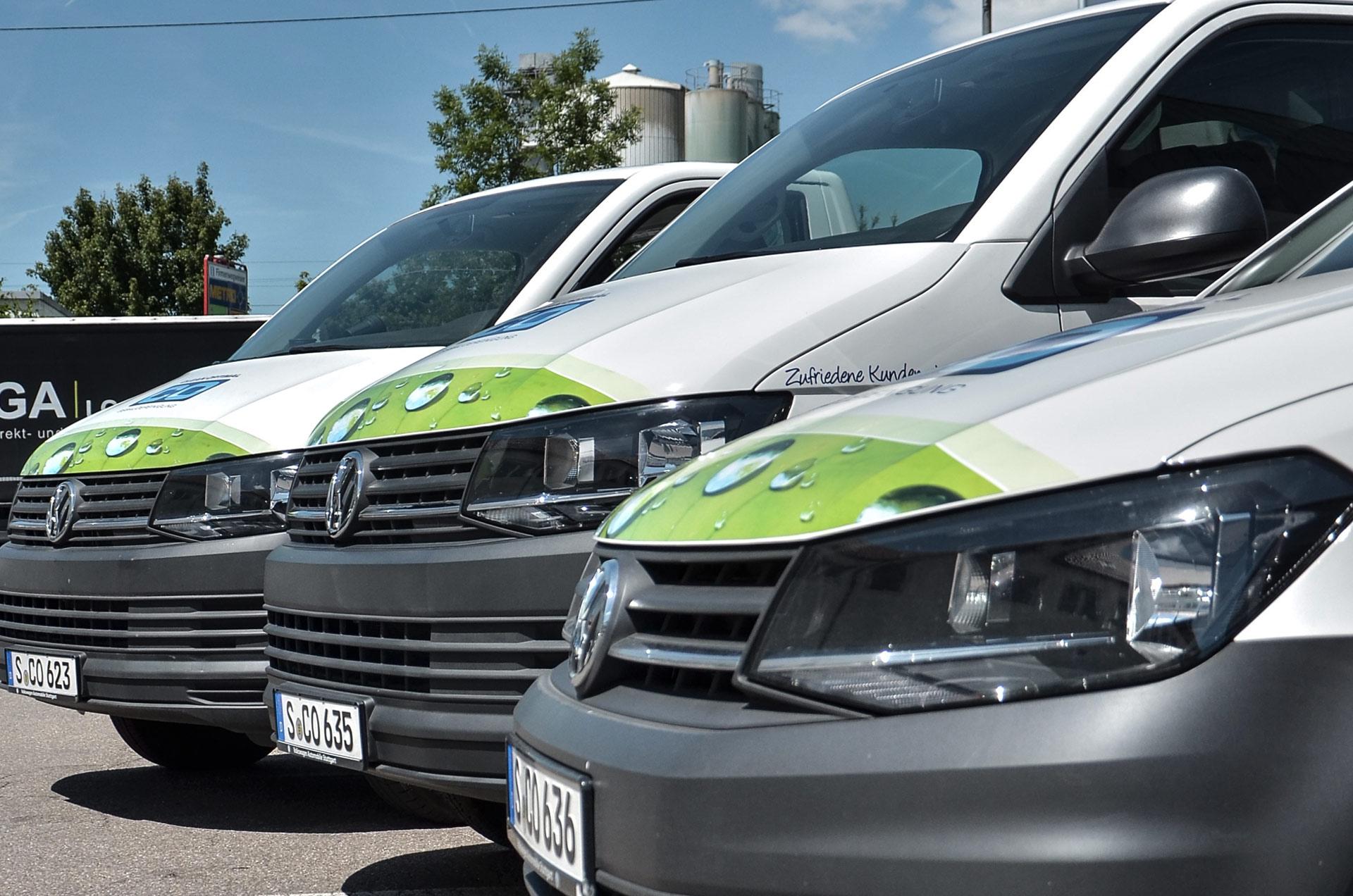 Fahrzeugflotte vom Profi für Gebäudereinigung in Stuttgart: Clean Optimal